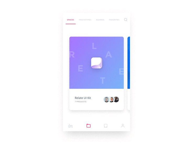 Invision Projects - Spaces iOS