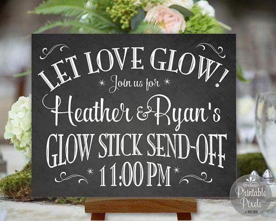Glow Stick Send-Off Printable Chalkboard by PrintablePixels