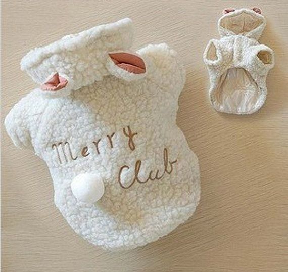 White Wool Sheep Dog Clothes,2 Legs Winter Warm Pet Sweaters,Cute Schnauzer Pomeranian Chihuahua Teddy Dog Clothes on Etsy, $20.47 AUD