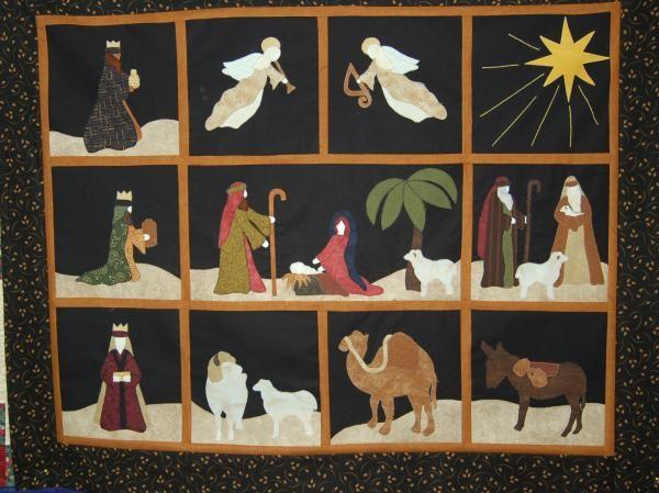 Nativity quilt blocks