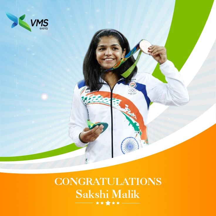 VMS congratulates #SakshiMalik on being the first Indian woman wrestler to win an Olympic medal and bringing glory to our nation.