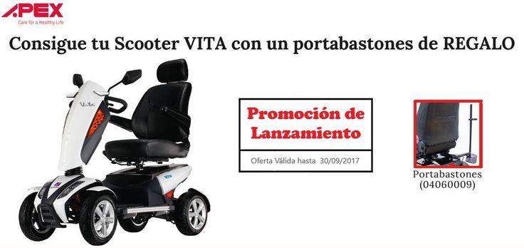 🔔 Atención al nuevo #Scooter Eléctrico VITA de APEX 🔔 Un Scooter Extra-cómodo con un diseño único.  💥 OFERTA: Durante el mes de Septiembre, con portabastones GRATIS