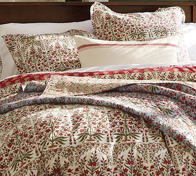 Pottery Barn Leila Block Print Bedding No Longer Available Home Decor Red Amp Gray Pinterest Block Prints And Bed Linen
