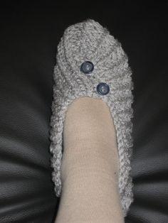 Des chaussons au tricot pour débutantes et mon marché de noël ....
