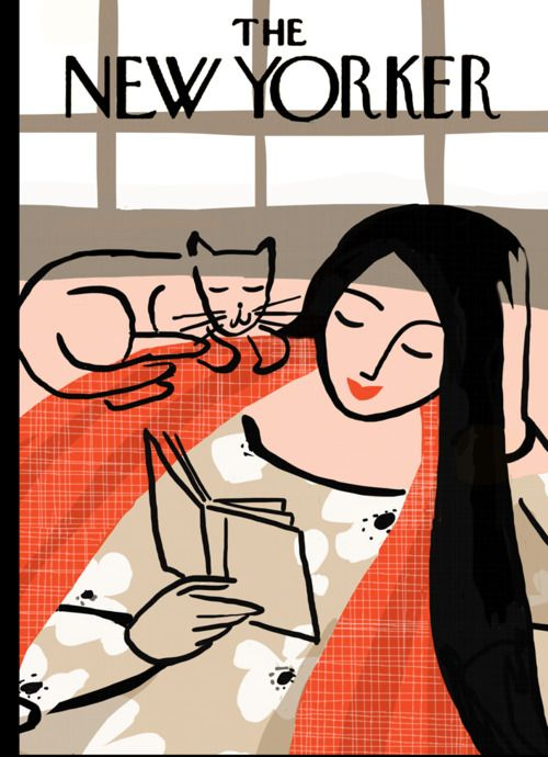 "New Yorker cover ""books"" theme"