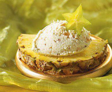 Ricotta & Pineapple Stack with Tre Stelle® Extra Smooth Ricotta Cheese and Mascarpone Cheese #pineapple #ricotta #healthyrecipe