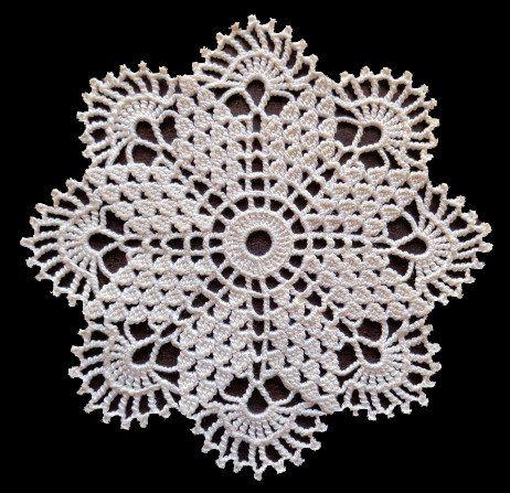 Small cream crochet doily by fancypansycrafts on Etsy