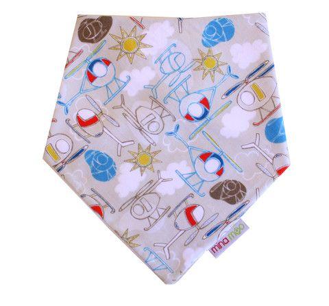 Baby blue stripe dribble bandana bib – Mina Moo and Baby