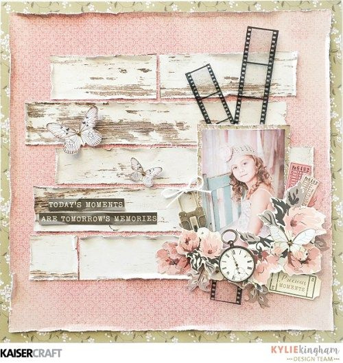 Moments layout by Kylie Kingham for KaiserCraft