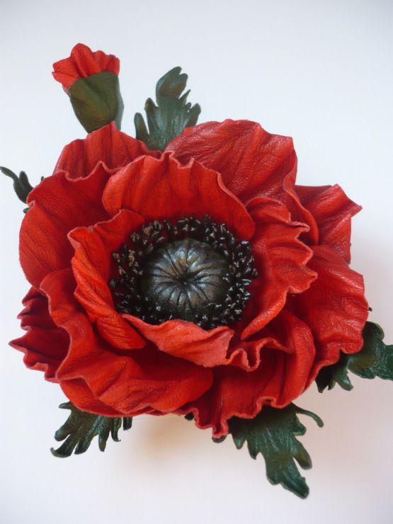 Gallery.ru / Фото #14 - цветы из кожи - ryzhovatv