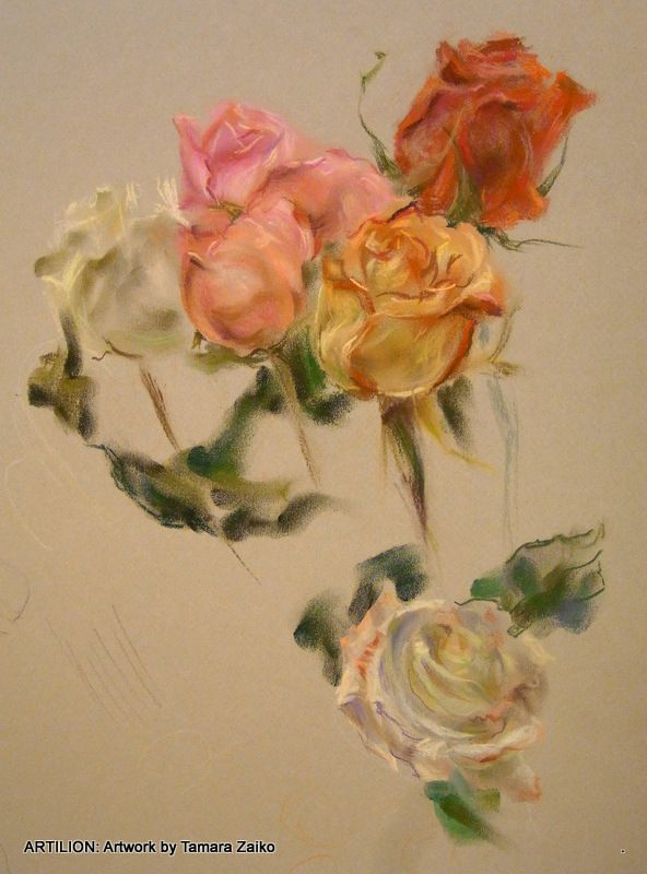 Graphic Arts.Drawing of flowers by painter Tamara Zaiko. Still life. Toned paper, pastel.Subject: #art #artist #artwork Графика как искусство. Тамара Заико. Цветы. Рисунок. Тонированная бумага, пастель. Темы: натюрморт, цветы, букет.