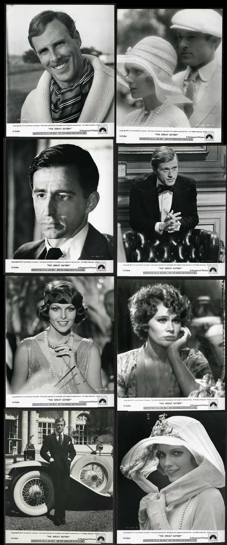 The Great Gatsby (1974) | The Ensemble. Publicity Stills.