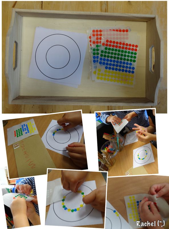 "Fine motor sticky dot fun... from Rachel ("",)"