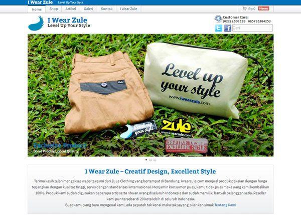 I Wear Zule   Portfolio Web Design Bandung Indonesia