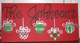 ornaments on canvas * Family Name *