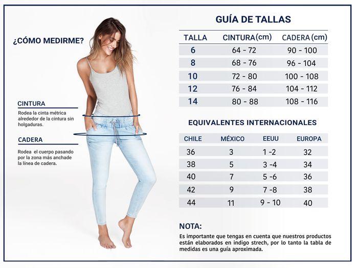 Jeans levanta cola de tiro medio color azul Ref.56256 ...