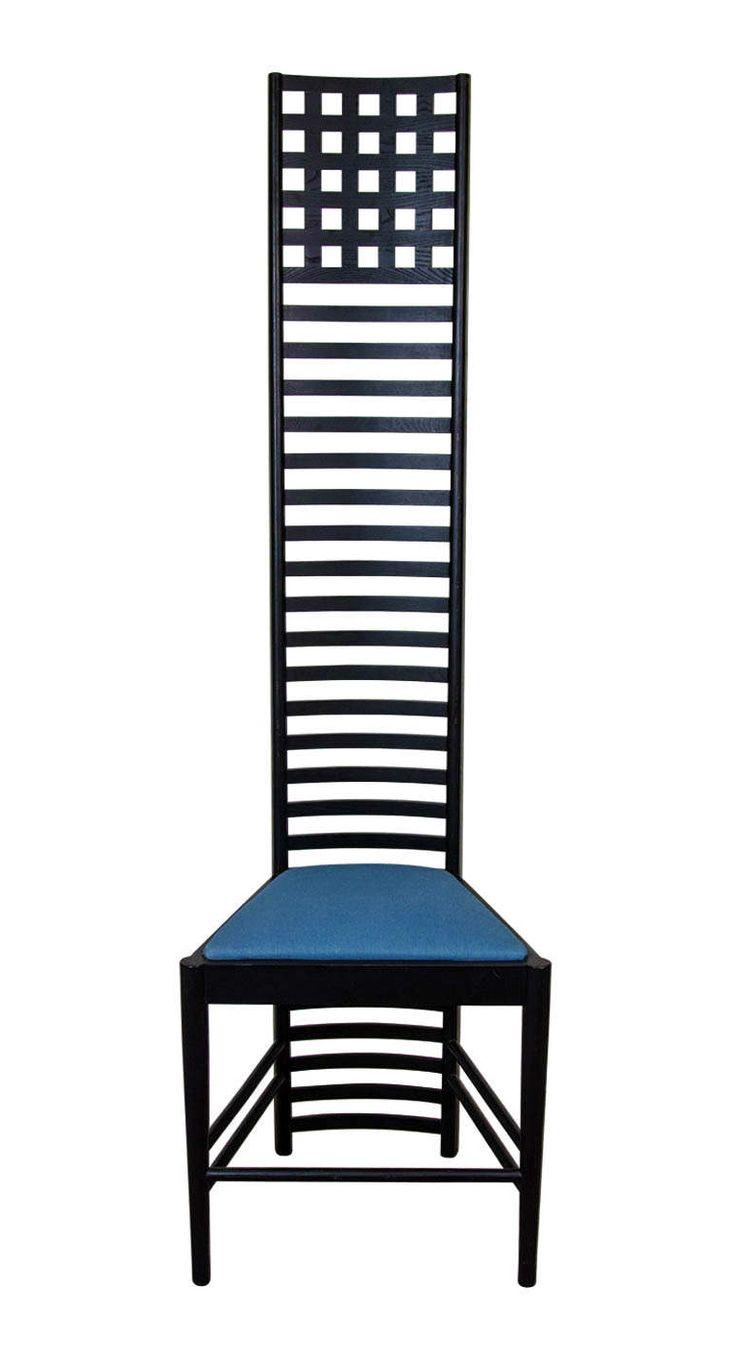 CHARLES RENNIE MACKINTOSH.  Hill House Chair. 1902.