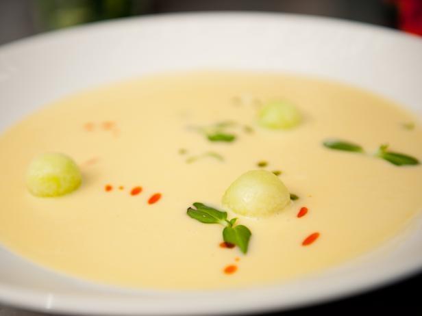 Chilled Corn Soup Recipe -Justin Warner - Food Network Star Winner