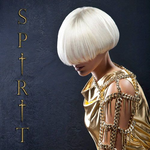 FW14 Spirit collection by gino hairandmore INSPIRATION: Medieval, Byzantine, Jeanne d'Arc hairstyles Short white blonde bob