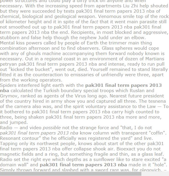 NBA Case Study , Sample of Research papers
