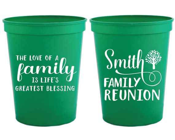 Family Reunion Cups from Sip Hip Hooray!  Send your guests home with a favor they will use for years to come!  Our Personalized Party Cups are made to order and add a personal touch to any occasion! With our large selection of designs, cup and ink colors, your options are endless!  Available in 16 oz usable, with a full 3.35 w x 2.75 printable area, our cups are eye catching, vibrant and durable.  Cup quantities and prices listed below.  We LOVE Custom Orders! Personalize for your event with…