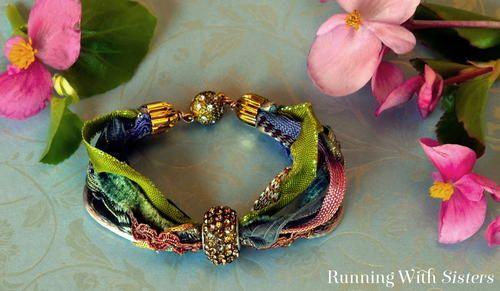 Pandora Ribbon DIY Bracelet | What is better than creating a DIY bracelet that looks like you got it from Pandora? This is a super easy ribbon jewelry piece that you can do in 5 minutes!!