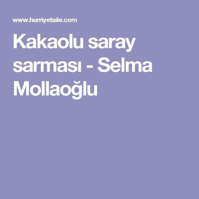 Kakaolu saray sarması - Selma Mollaoğlu