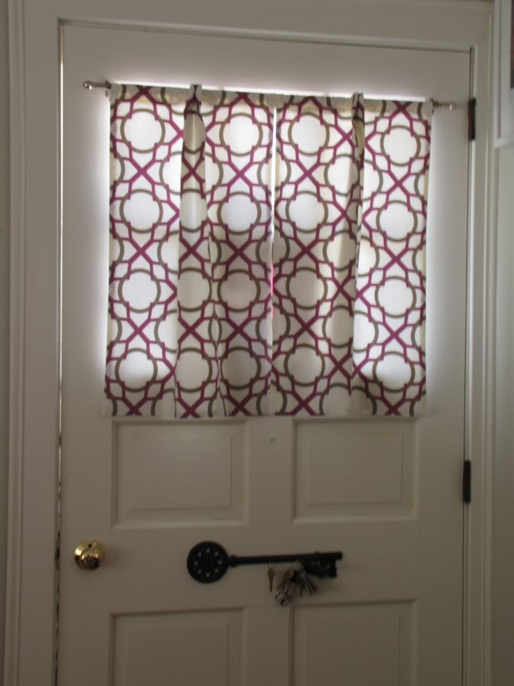 Door window curtains i made sewing pinterest for Front door window curtains