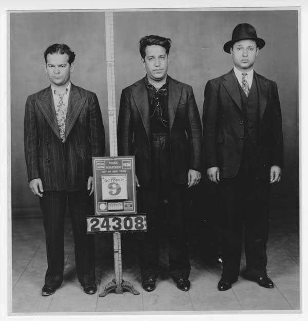 (left to right) Martin Goldstein, Seymore Magoon, and Irving Strauss street soldiers for Meyer Lansky and Murder Inc c.1938