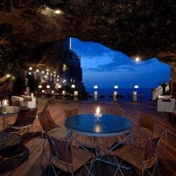 Hotel Ristorante Grotta Palazzese, inside a cave.: Bucketlist, Buckets Lists, Grotta Palazzes, Caves Restaurant, Travel, Places, Restaurants, Italy, Hotels