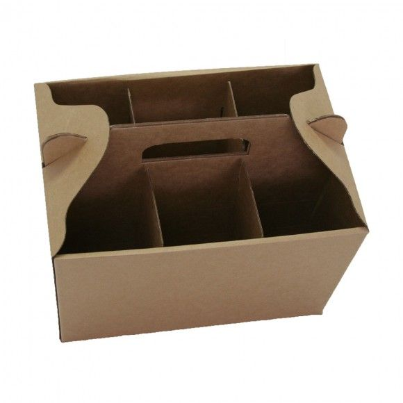 6 Bottle Wine Carry Box (Open-Top) - produced by Duncan Packaging