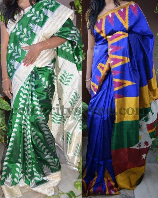 Bright Pochampally Silk Sarees