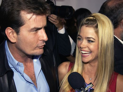 Sheen and wife, actress Denise Richards attend the