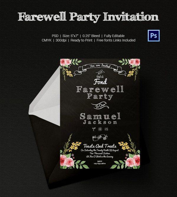 Farewell Invitation Template Free Inspirational Farewell Party Invitation Template 25 Free P Party Invite Template Farewell Party Invitations Party Invitations