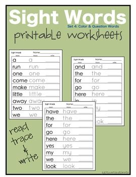 FREE! Sight Words: Question and Color Word Worksheets: Printable Dolch, Sight Words, Sweet, Dolch Site, Sight Word Worksheet, Site Words, Printable Word, Word Worksheets, Preschool Practice