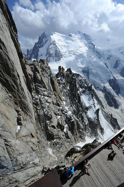 Aiguille du Midi, Chamonix Mont-Blanc, via Flickr. #chamonix #mountains