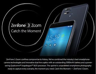 Asus zenfone 3 zoom ze 553 kl Review and specification   (Lava Red 8 GB RAM   128 GB memory)   ·          EMI starts at Rs. 1807 (No costs...