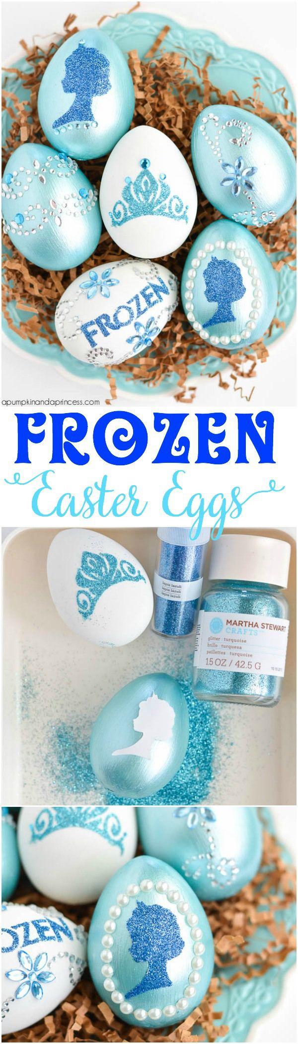 Disney Frozen Easter Eggs – From A Pumpkin And A Princess