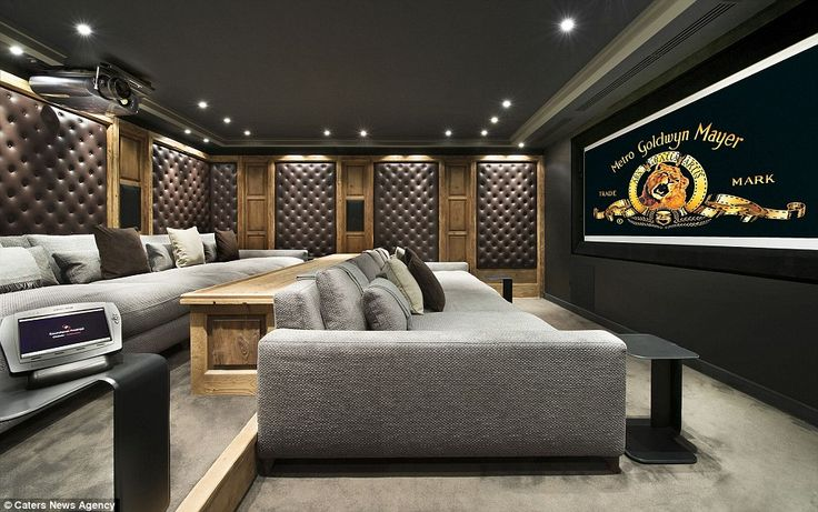 Private screening: The £330,000-a-week chalet in the French Alps boasts its own cinema...