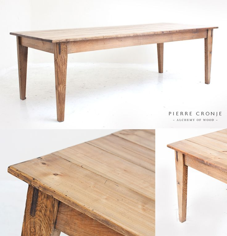 A Pierre Cronje 'Simply Pierre' Farm Kitchen Table in French Oak. Very popular for farm-style kitchens