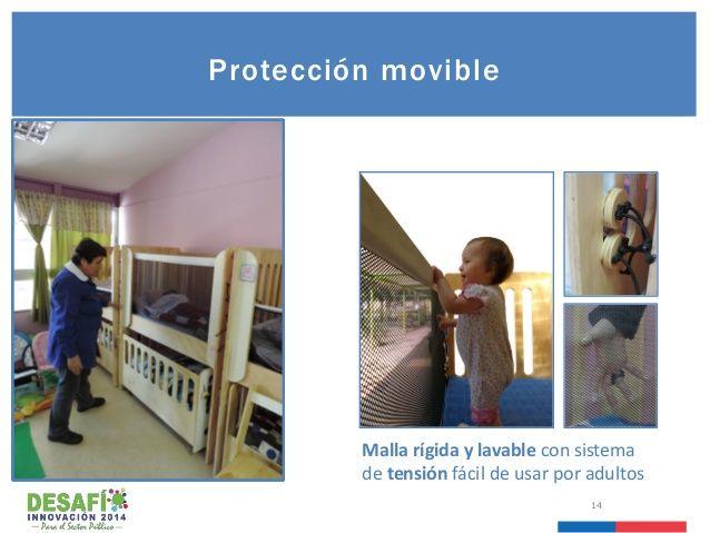 14 Protección movible Malla rígida y lavable con sistema de tensión fácil de usar por adultos