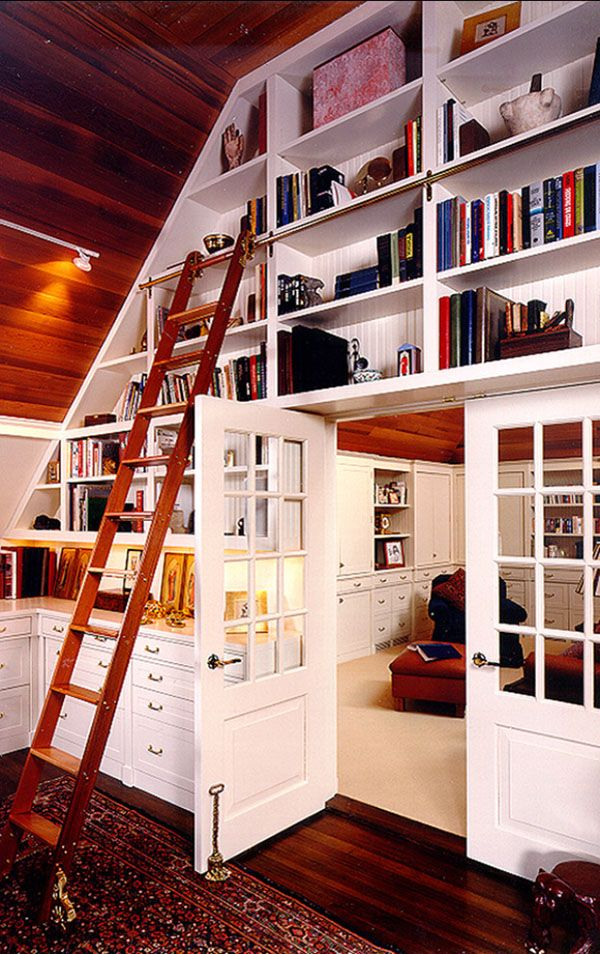 50 Jaw-dropping home library design ideas love the lantern for our library/office, and a BIG leather chair!