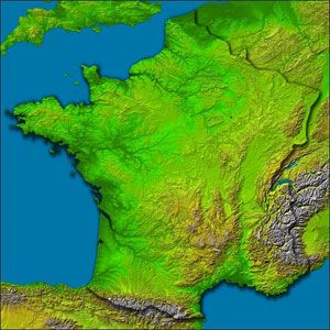 French landscape map