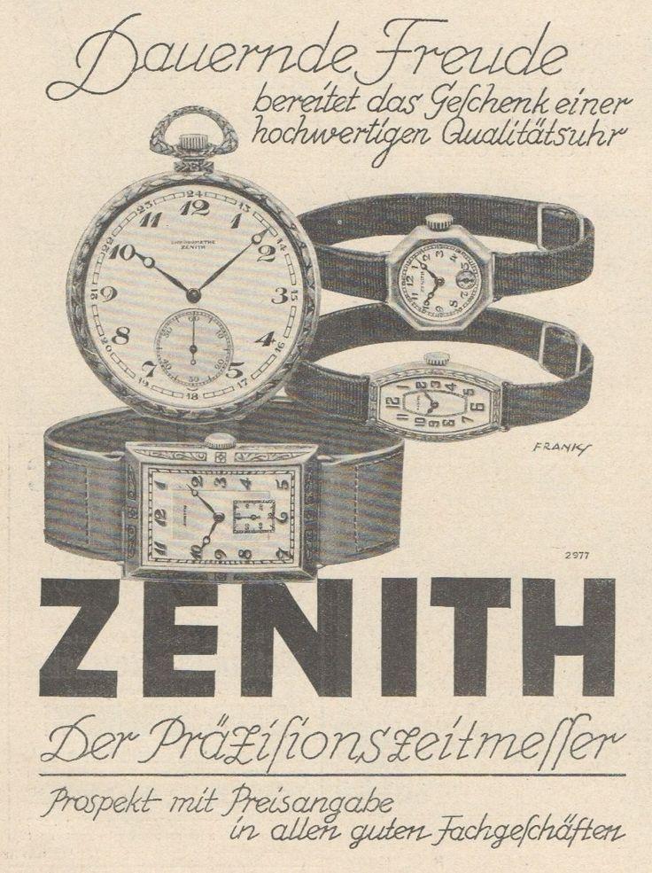 Y6729 ZENITH Orologi - Pubblicità d'epoca - 1929 Old advertising   Collezionismo, Pubblicitario, Moda e cosmetici   eBay!