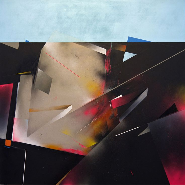 Dark sands - 2014  Mixed media on canvas  160cm x 160cm    Private collection