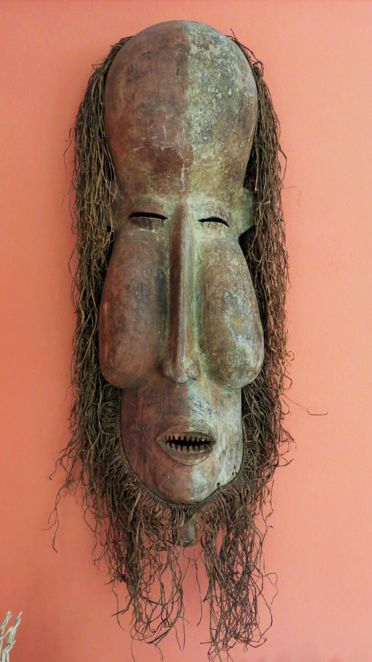 Yaka Kakuungu Initiation Mask. D.R.Congo. 105cm. Mid 20th century. Used to frighten young initiates into obedience and to instil respect for elders. From the collection of PD.
