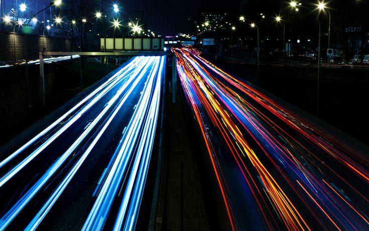 Follow the lights, car lights photography