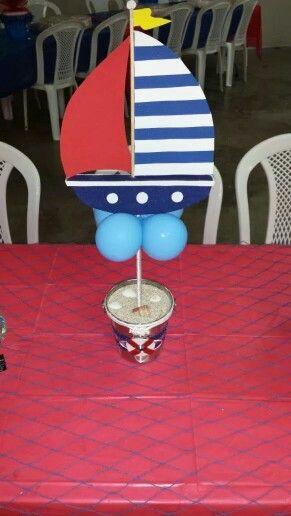 17 mejores ideas sobre centros de mesa n uticos en for Decoracion nautica infantil