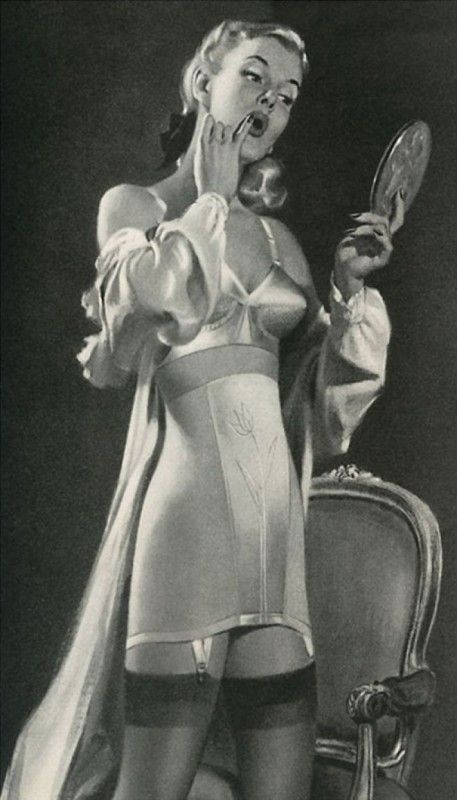 Girdle girdles 1940sfashion lingerie retro lingerie correction