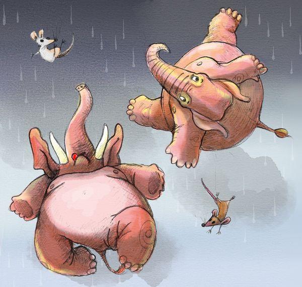 Raining Elephants - by Russell James. russelljames.com.au